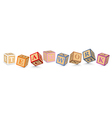 Word TEAMWORK written with alphabet blocks vector image