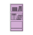 color education bookcase with books and folder vector image