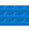 seamless ocean waves pattern vector image