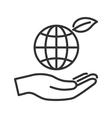 Globe in hand vector image