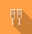 Simple Pair Crutches vector image