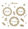 vintage autumn wreaths vector image