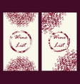 wine business cards set vector image