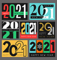 2021 poster graphic design christmas vector image