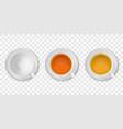 3d realistic white porclean ceramic empty vector image vector image
