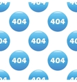 404 sign pattern vector image vector image