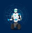 artificial intelligence modern technology robot vector image vector image