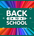 back to school banner design with 3d title vector image
