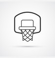 basketball basket black icon eps10 vector image