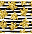 beautiful seamless pattern golden maple leaves