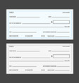 blank banking checks template vector image