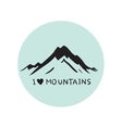 blue mountains vector image vector image