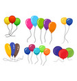 bunches of several colour helium balloons vector image vector image