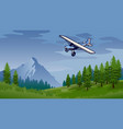 bush plane flying in nature vector image vector image