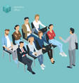 business employee coaching vector image