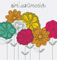 Card with flowers vector | Price: 1 Credit (USD $1)