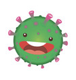 cartoon coronavirus vector image vector image
