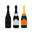 champagne bottle icon design vector image vector image