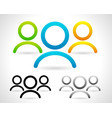 characters group of people graphics colored and vector image vector image