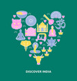 discover india concept banner in colored line vector image vector image