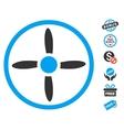 Drone Screw Icon With Free Bonus vector image vector image
