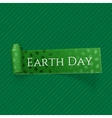 Earth Day realistic curved festive Ribbon vector image vector image