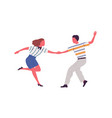 faceless artistic pair holding hands dancing vector image vector image