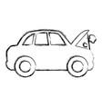 figure car burnt engine and dangerous diagnostic