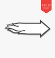 Flaming arrow icon Speed concept Flat design gray vector image vector image