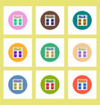 flat icons set of calculator concept on colorful vector image vector image