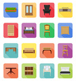 furniture flat icons 19 vector image vector image