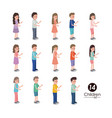 group of kids characters vector image