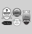handsome barber shop label badges vector image vector image