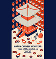 happy chinese new year background with creative