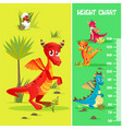 height chart wall meter badinosaurs vector image