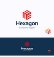 hexagon logo vector image vector image