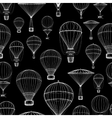 Hot air balloon seamless pattern vector image vector image