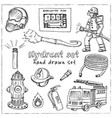 hydrant hand drawn doodle setisolated elements vector image