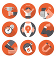 Icons of Motivation and Setting Goals vector image vector image
