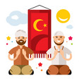 islam islamic prayers flat style colorful vector image vector image
