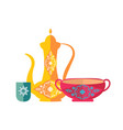 islamic dishware decorative pitcher vintage style vector image