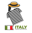 italy travel destination promo banner with local vector image