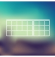 keyboard icon on blurred background vector image vector image