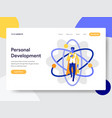 landing page template personal development vector image vector image