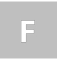 Letter F computer symbol vector image