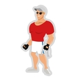 man with fitness outfit wearing sunglasses hat and vector image vector image