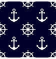 Marine background in navy blue and white colors vector image