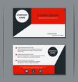 modern business visiting card design vector image vector image