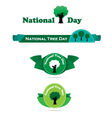 National Tree Day banner vector image