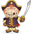 navy boat captain cartoon character vector image vector image
